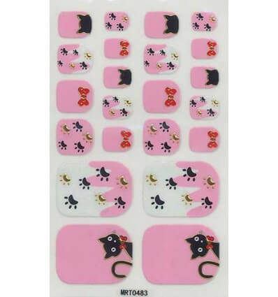 Toe Nail Stickers Rose Chats
