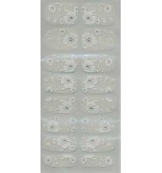 Nail Stickers Blanc Floral