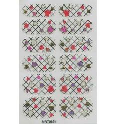 Nail Stickers Blanc Coeurs