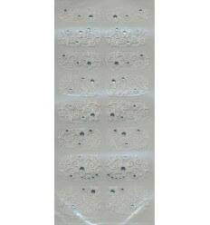 Nail Stickers Blanc Printemps