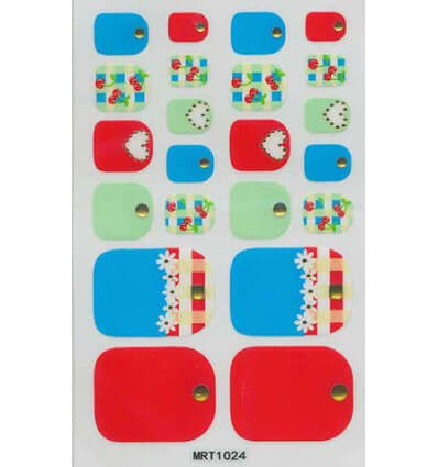 Toe Nail Stickers Coeur Cerise