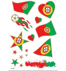 Tatouage Éphémère Euro 2016 Portugal