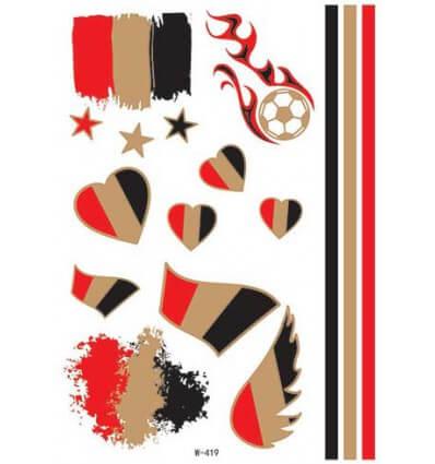 Tatouage Éphémère Euro 2016 Belgique