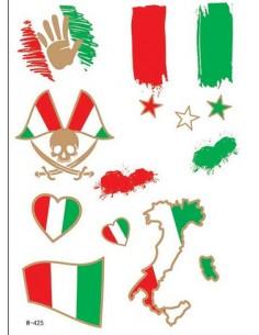 Tatouage Éphémère Euro 2016 Italie