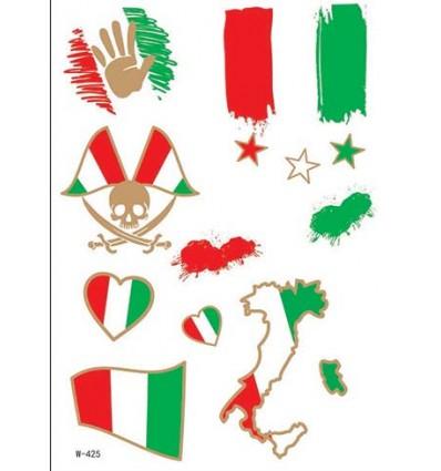 Tatouage Ephemere Equipe De Foot D Italie Axstore Market