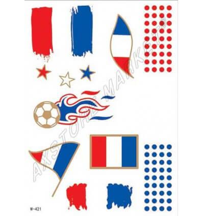 Tatouage Éphémère Euro 2016 France