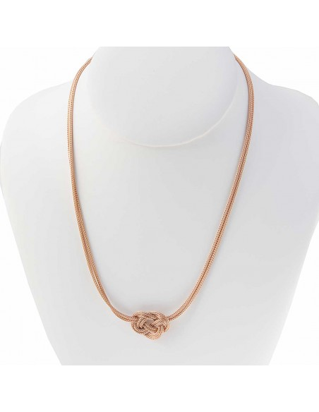 COLLIER VERMEIL FEMME ROSE AMOUR SUPPORT