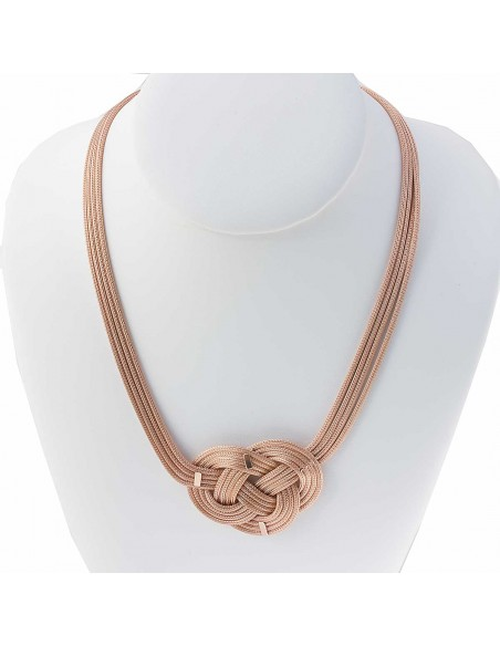 COLLIER VERMEIL FEMME ROSE ROSACE SUPPORT