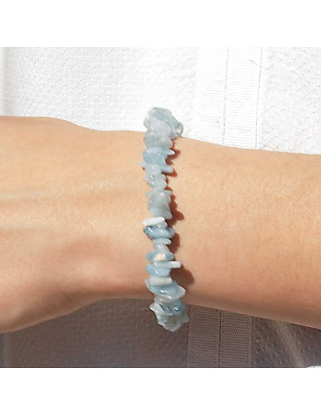 Bracelet Pierre Naturelle Aigue-Marine