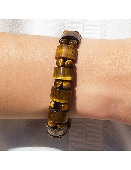 Bracelet Pierre Tank Oeil de Tigre modele