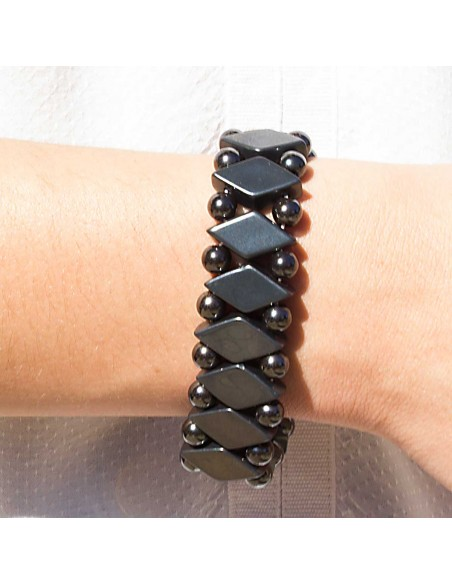 Bracelet Pierre Hematite Losange modele