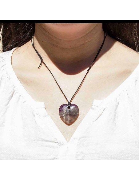 Collier Coeur Fluorine