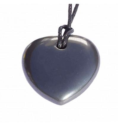 Collier Coeur Hématite
