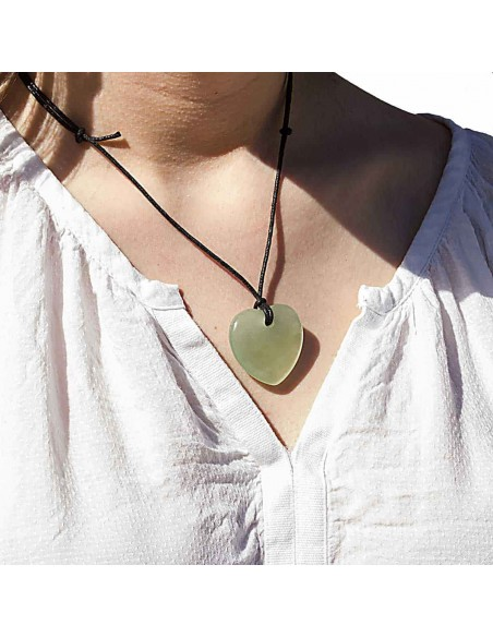 Collier Coeur Jade