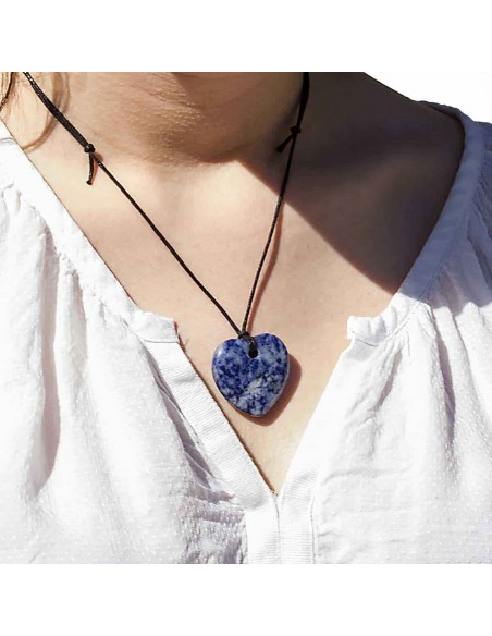 Collier Coeur Sodalite