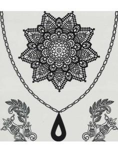Tatouage Éphémère Mandala Dentelles Noir