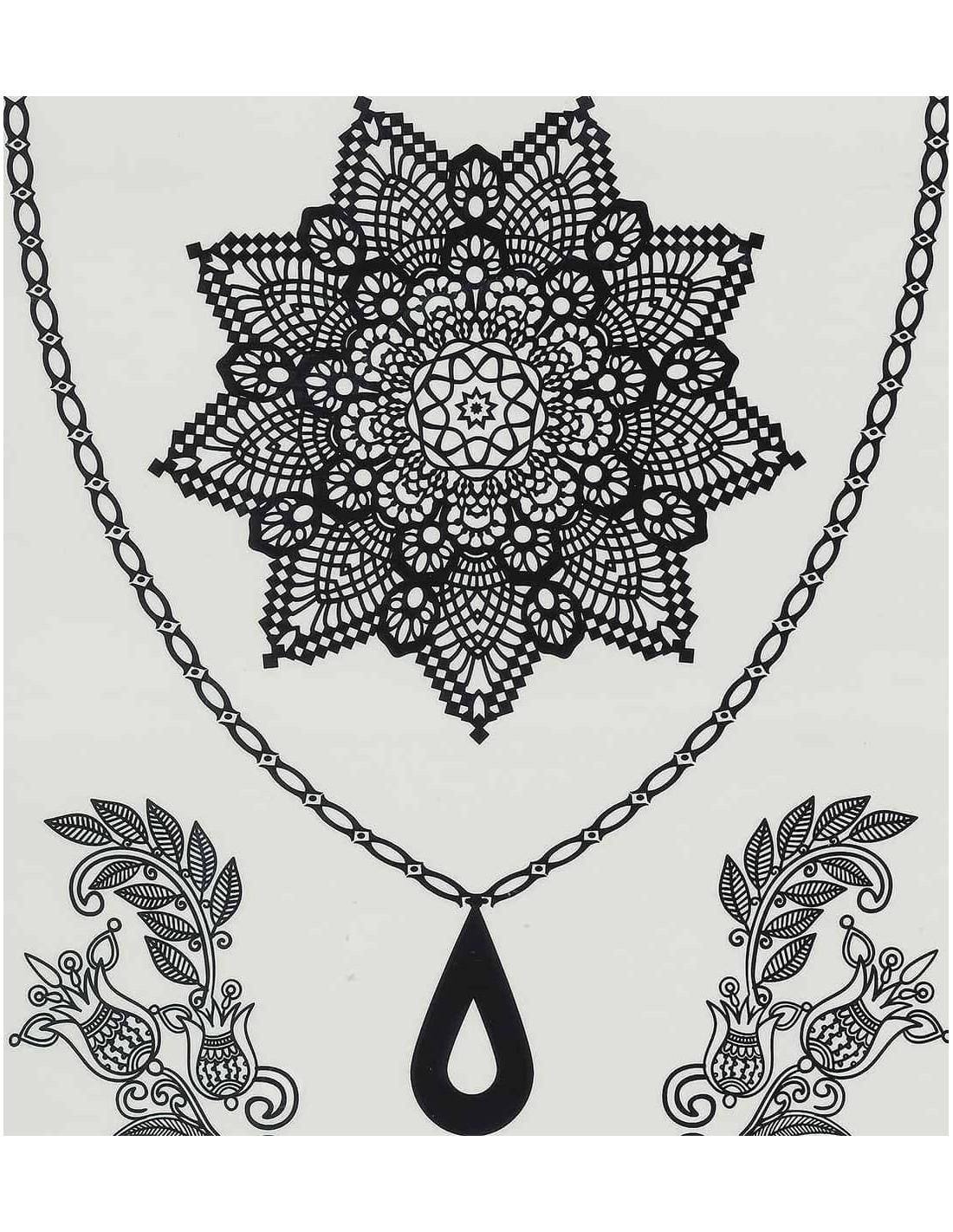 tatouage ph m re mandala dentelles noir axstore market. Black Bedroom Furniture Sets. Home Design Ideas