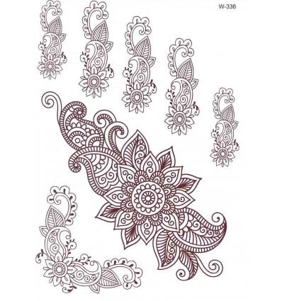Tatouage Éphémère Abondance Henné