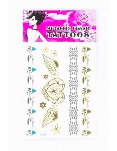Tatouage Éphémère Métallique Ailes Diamant