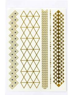 Tatouage Éphémère Métallique Bracelets