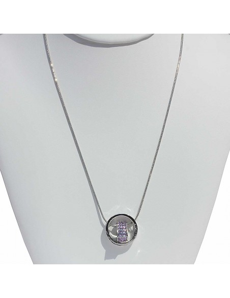 COLLIER COEUR AMOUR PURPLE