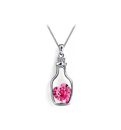 COLLIER COEUR FEMME PINK