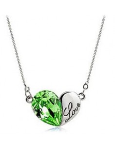 COLLIER COEUR LOVE GREEN