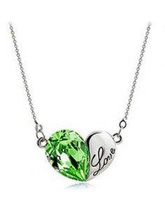 COLLIER COEUR LOVE GREEN