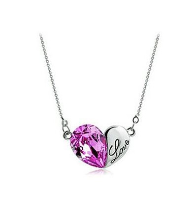 COLLIER COEUR LOVE PURPLE