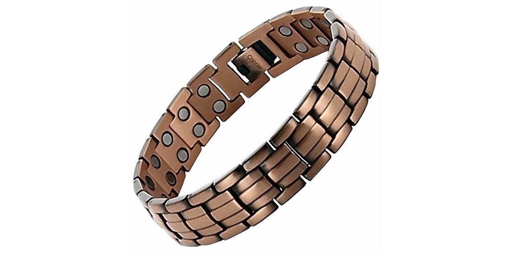 superbe bracelet magn tique homme en cuivre avec aimants. Black Bedroom Furniture Sets. Home Design Ideas