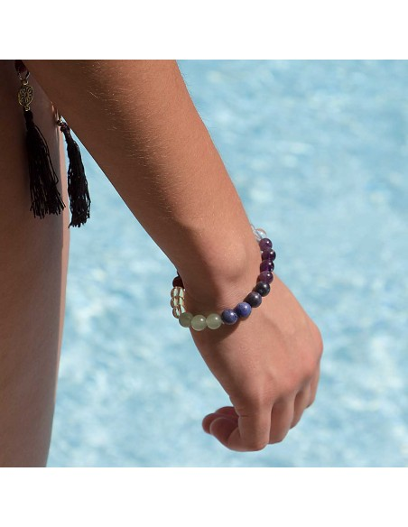 Bracelet Pierre Naturelle sept Chakras modele
