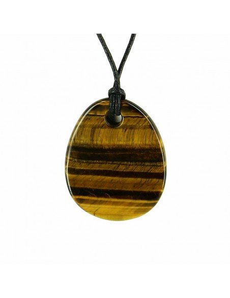 COLLIER PIERRE OEIL DE TIGRE VAGUE