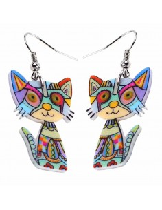 BOUCLES D'OREILLES CHAT CALIN