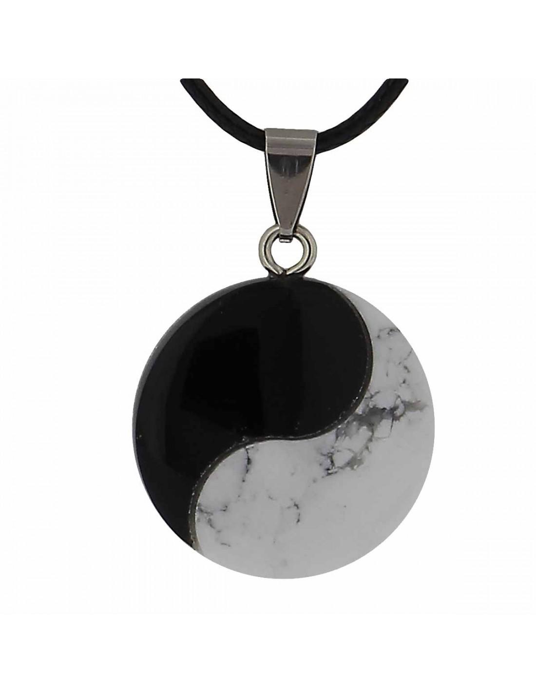 collier pierre naturelle yin yang pour quilibre et bienfait naturel axstore. Black Bedroom Furniture Sets. Home Design Ideas