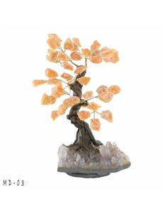 ARBRE DE VIE BONSAI QUARTZ ROSE GM MD02