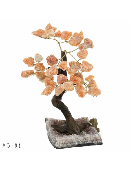 ARBRE DE VIE BONSAI QUARTZ ROSE GM MD01