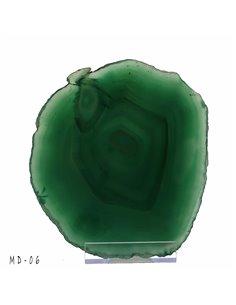 TRANCHE D AGATE FINE SUR SOCLE TAILLE XL MD06