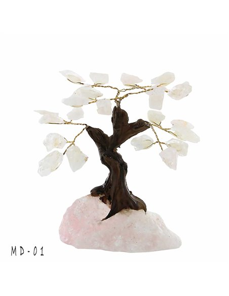 ARBRE DE VIE BONSAI QUARTZ ROSE PM MD01