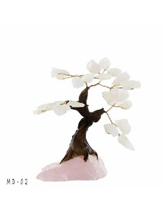 ARBRE DE VIE BONSAI QUARTZ ROSE PM MD02