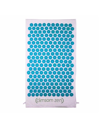 Tapis d'Acupression en coton et fibre de coco bio Bleu