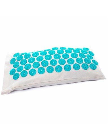 Coussin d'Acupression en coton et fibre de coco bio bleu