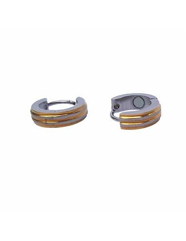 Boucles d'oreilles créoles magnétiques pour femme antidouleur
