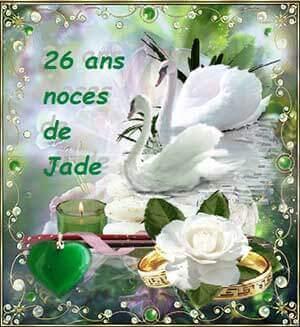 26 ans de mariage jade