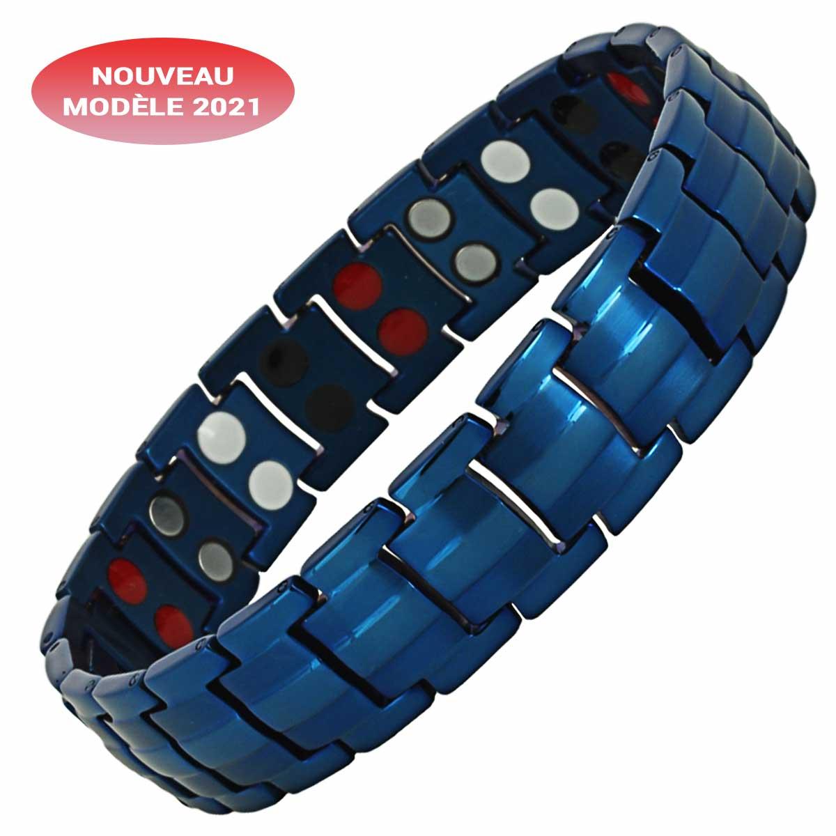Bracelet magnétique homme ayati antistress et antidouleur avec aimants puissants