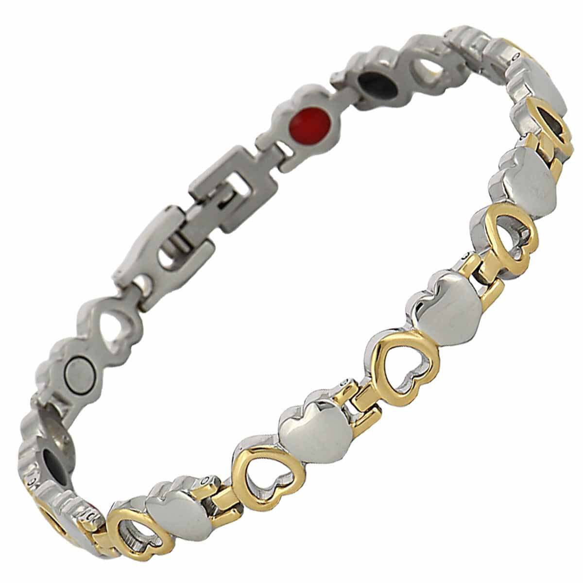 Bracelet magnetique coeurs