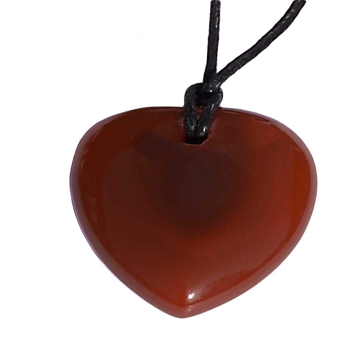 Collier coeur cornaline