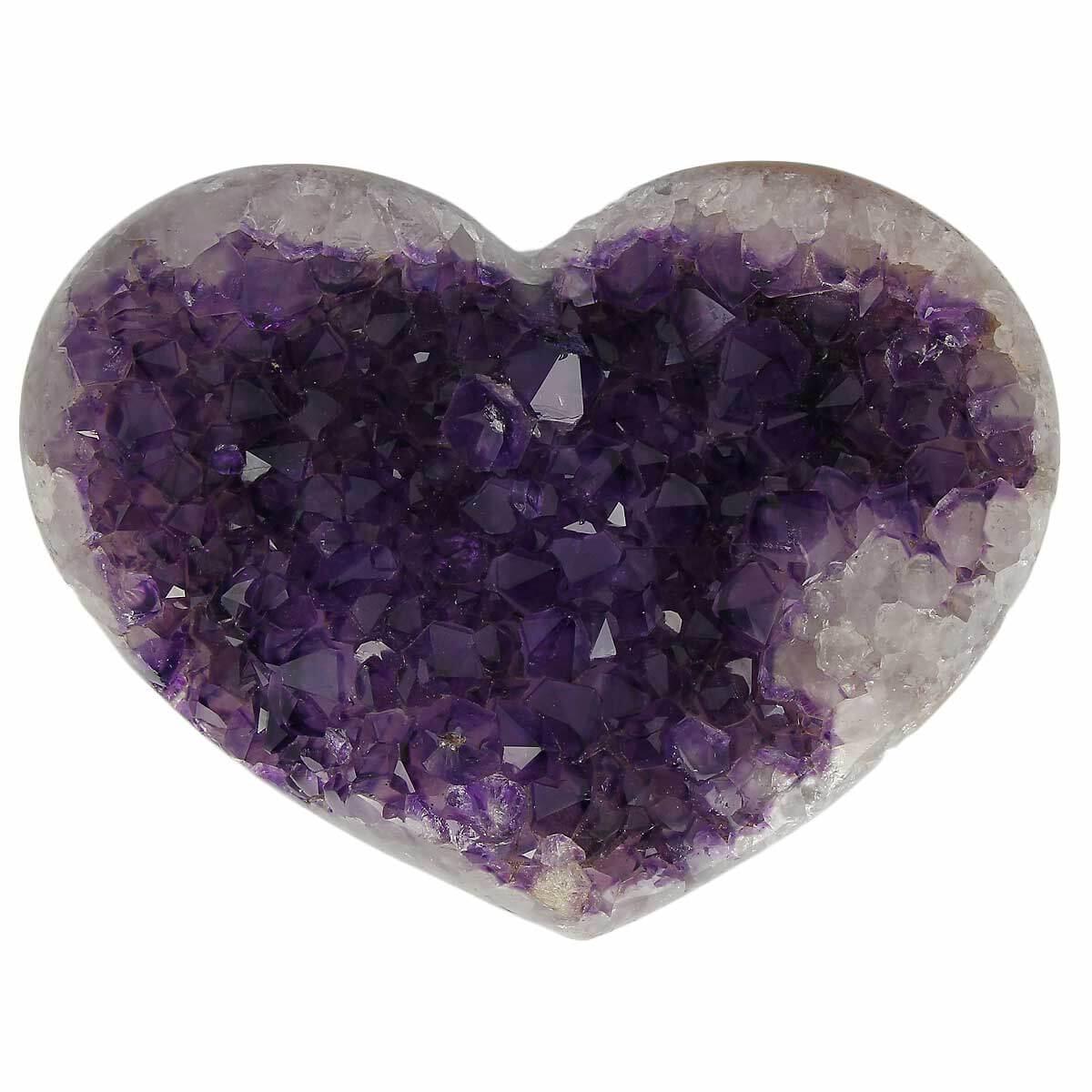 Geode amethyste coeur