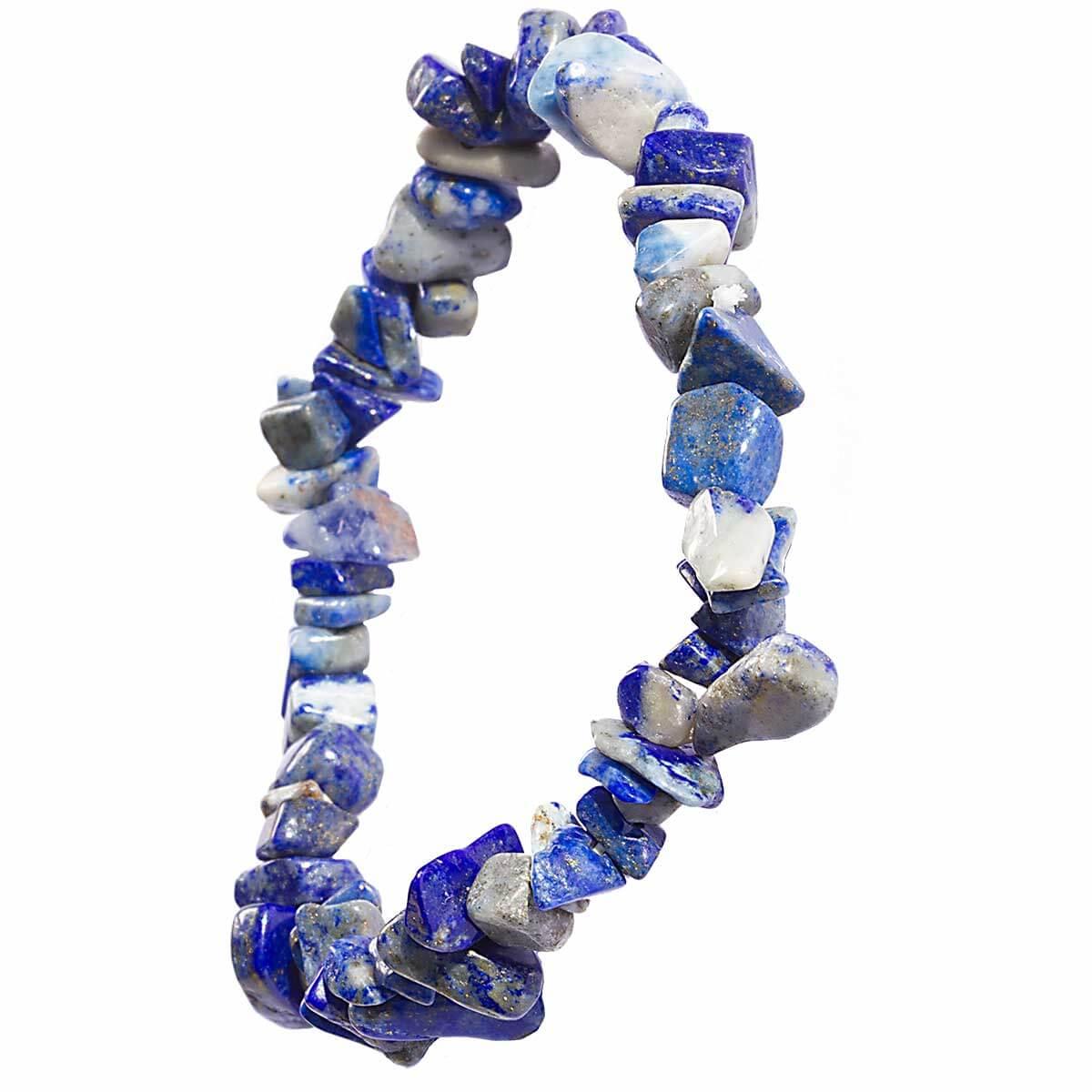 Bracelet chips en Lapis Lazuli