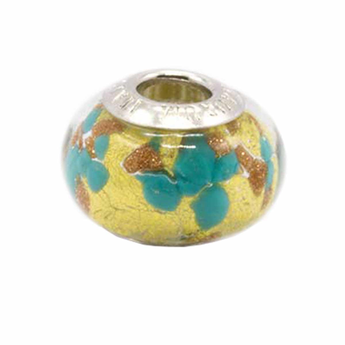 Charms Foglia Oro Verde