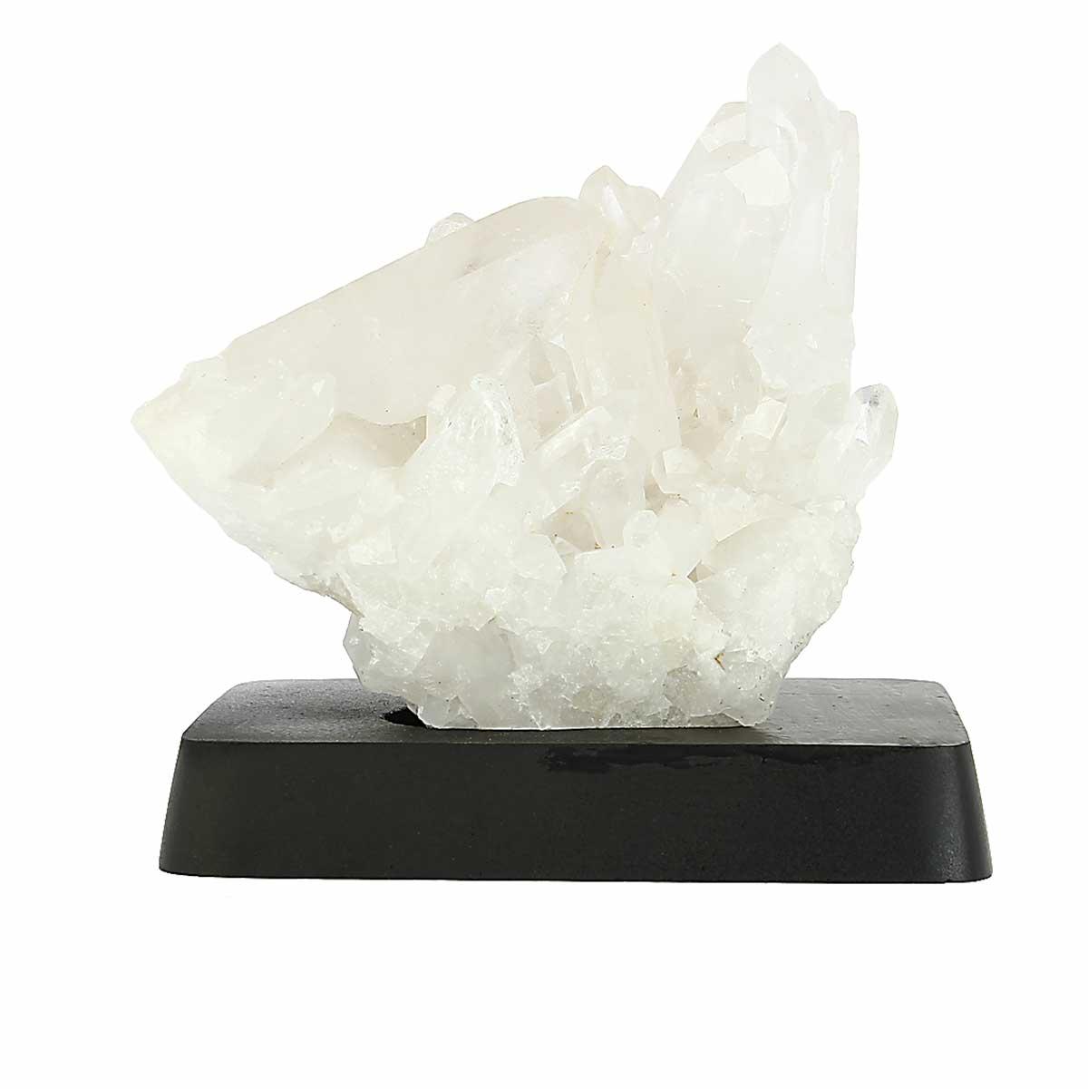 Sculpture de Cristal de roche du Brésil sur socle